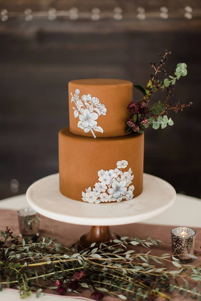 Moody Wedding Cake | Utah Wedding Cakes