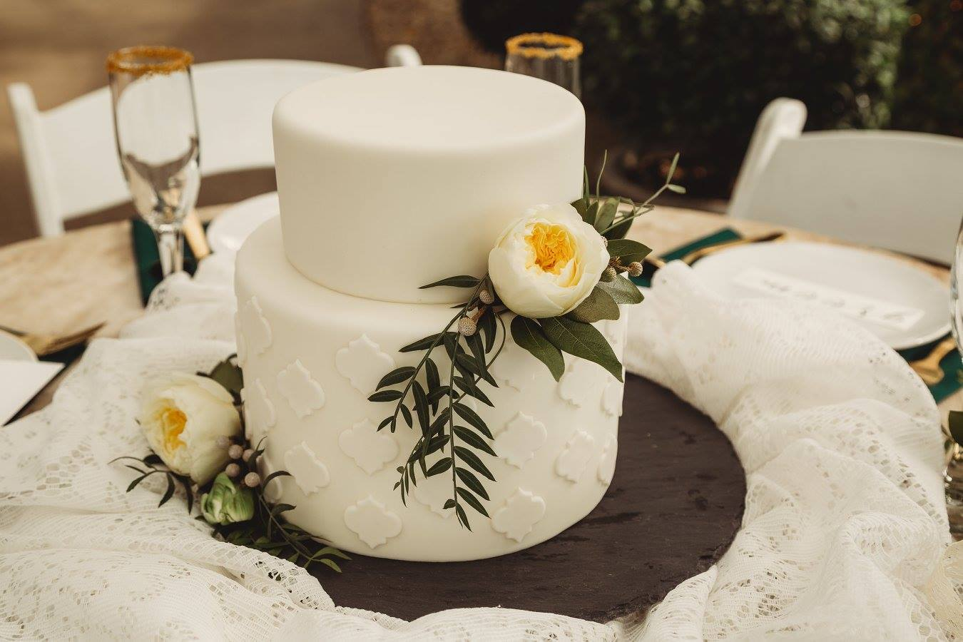Greenhouse Wedding | Utah Wedding Cakes