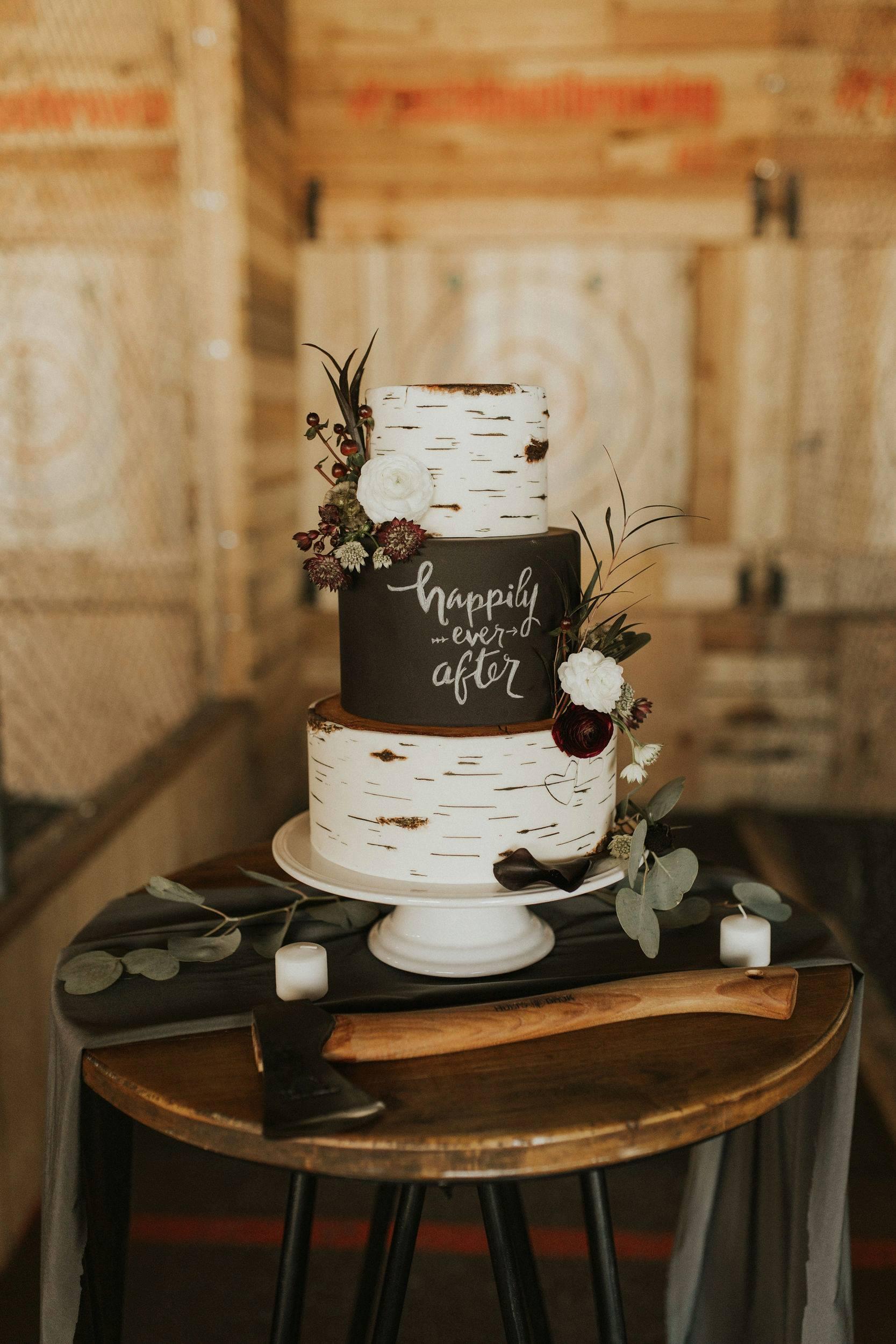 Wood Inspired Wedding Cake | Utah Wedding Cakes