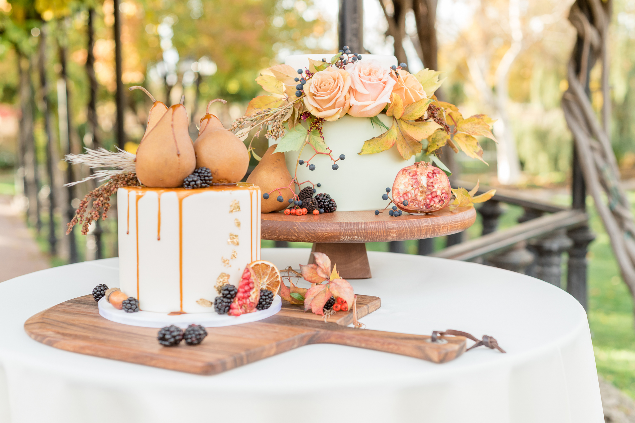 Fall Themed Wedding Cakes | Utah Wedding Cakes