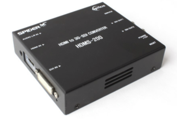 HDMS-200 ; HDMI and DVI to Optical 3G-SDI Converter