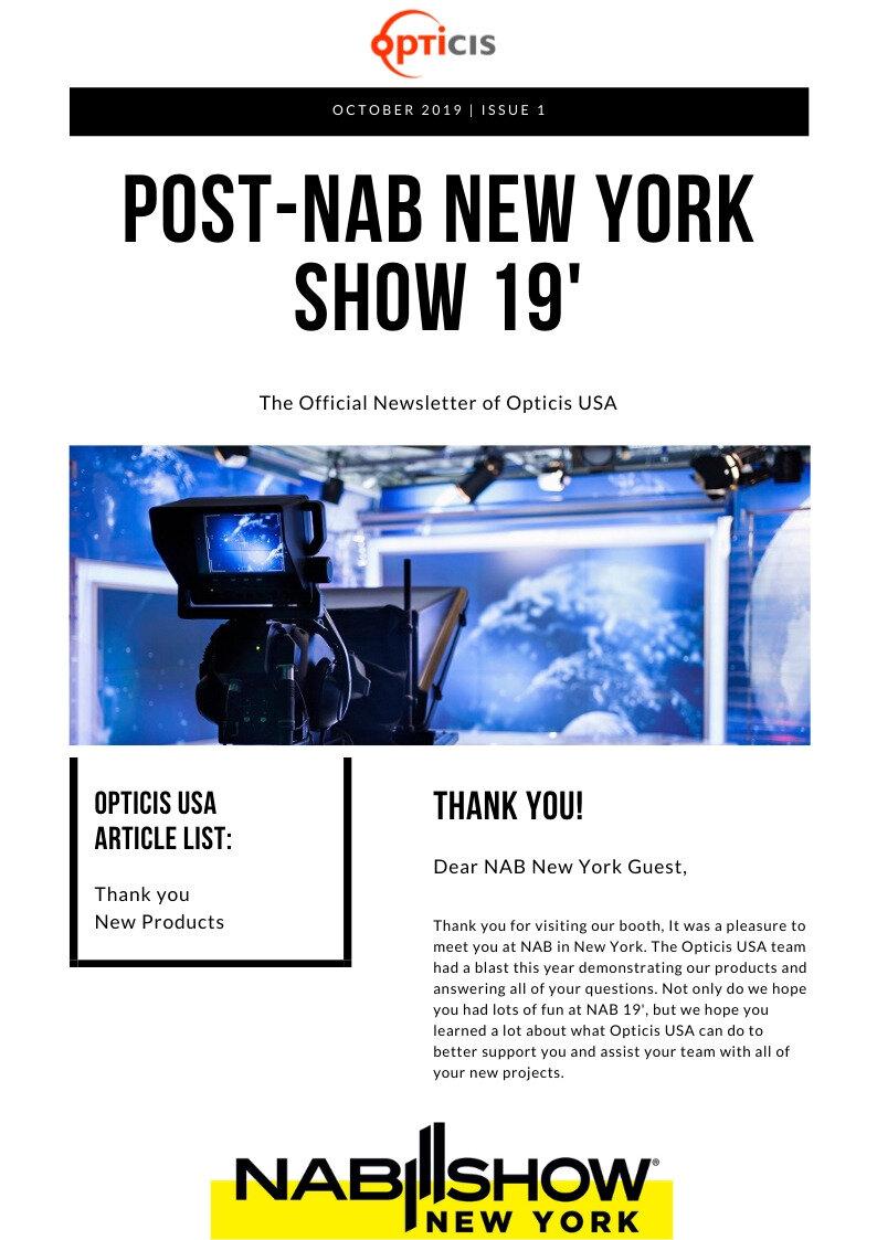 "NAB NEW YORK 19"""