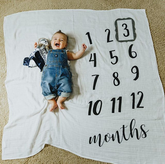 3 MONTHS || welp. It's been a busy week and we've been on the mend from a cold in our house so I'm definitely late posting this, but what can ya do. 🤷🏼♀️ Trav turned 3 months this past Monday and I think we are in the best phase ever right now. He is just such a dang happy boy! And a major flirt. He will smile at you until you smile back (and then he gets all bashful when you do)! He's incredibly social and loves to be independent. We've discovered how freeing the door jumper is and he LOVES it. We are getting full on belly laughs from him now. He LOVES to tease and to be teased (gets it from his daddy). Seth the Sloth is currently his best friend and he thinks his hands are the best snack in the world. We are finally mastering nap time, which mom is grateful for, and we are beginning to sleep through the night a few times a week. Travis has SERIOUS FOMO and for real thinks he's one of the big kids. He must be apart of the action and see what's going on or else we get very upset. He is happiest when he is sitting upright and he loves to watch the Super Wings every morning while mom eats breakfast. He is a champion at tummy time and holding his head up and is getting SO close to rolling over. He hates the car seat but apparently must be most comfortable in it because he has a major blowout pretty much every time he's in it (our washing machine never stops). He loves to cuddle with mom and play games with dad. He's just the cutest boy in the world and we love watching his sweet personality emerge! 💙