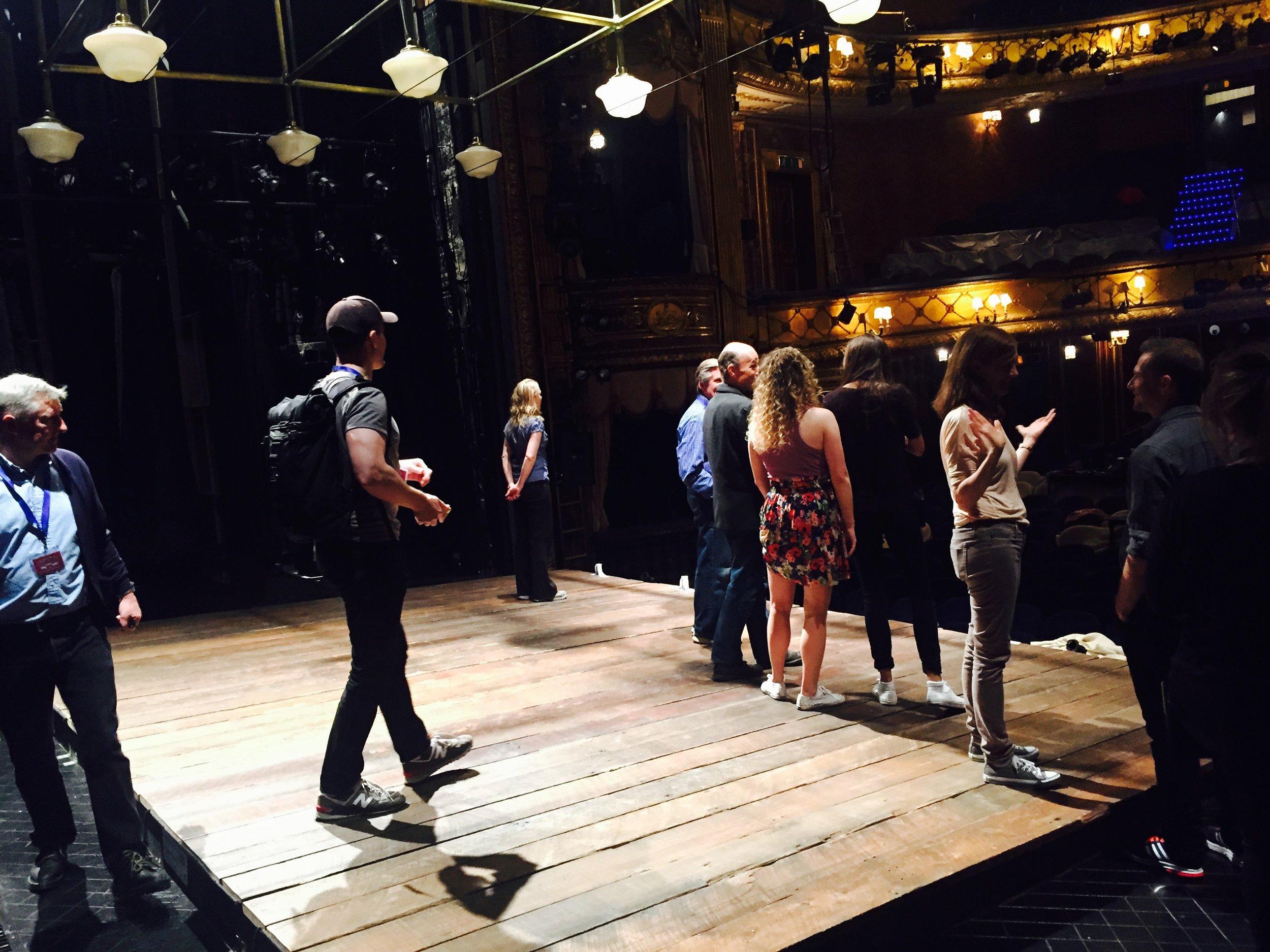 The cast meets The Haymarket