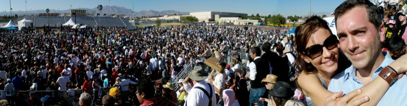 At Obama for President Rally, Las Vegas, NV Fall 2008 w/ Michelle Clunie