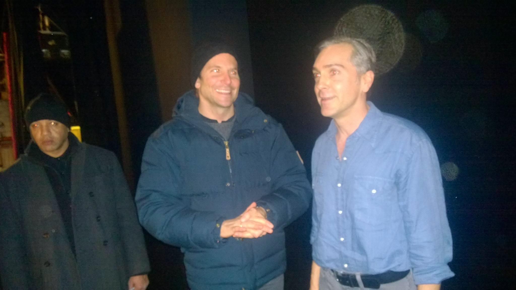 Bradley Cooper & Scott post-show