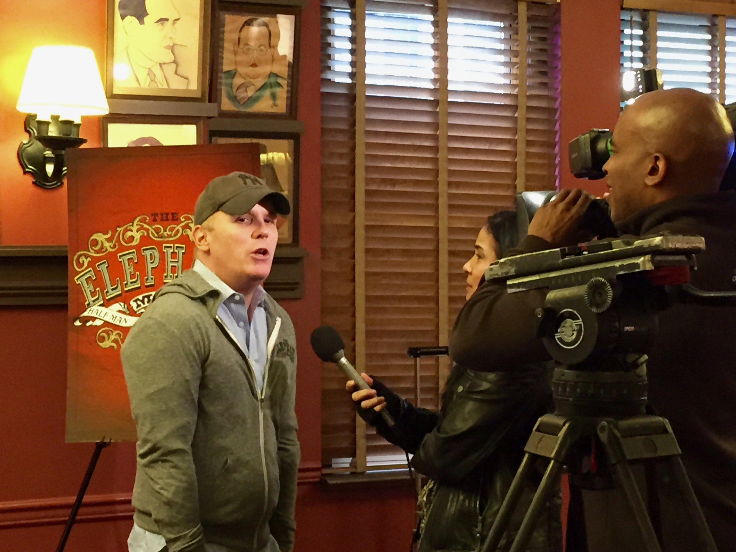 Director Scott Ellis at Sardi's Press event (photo by Scott Lowell)