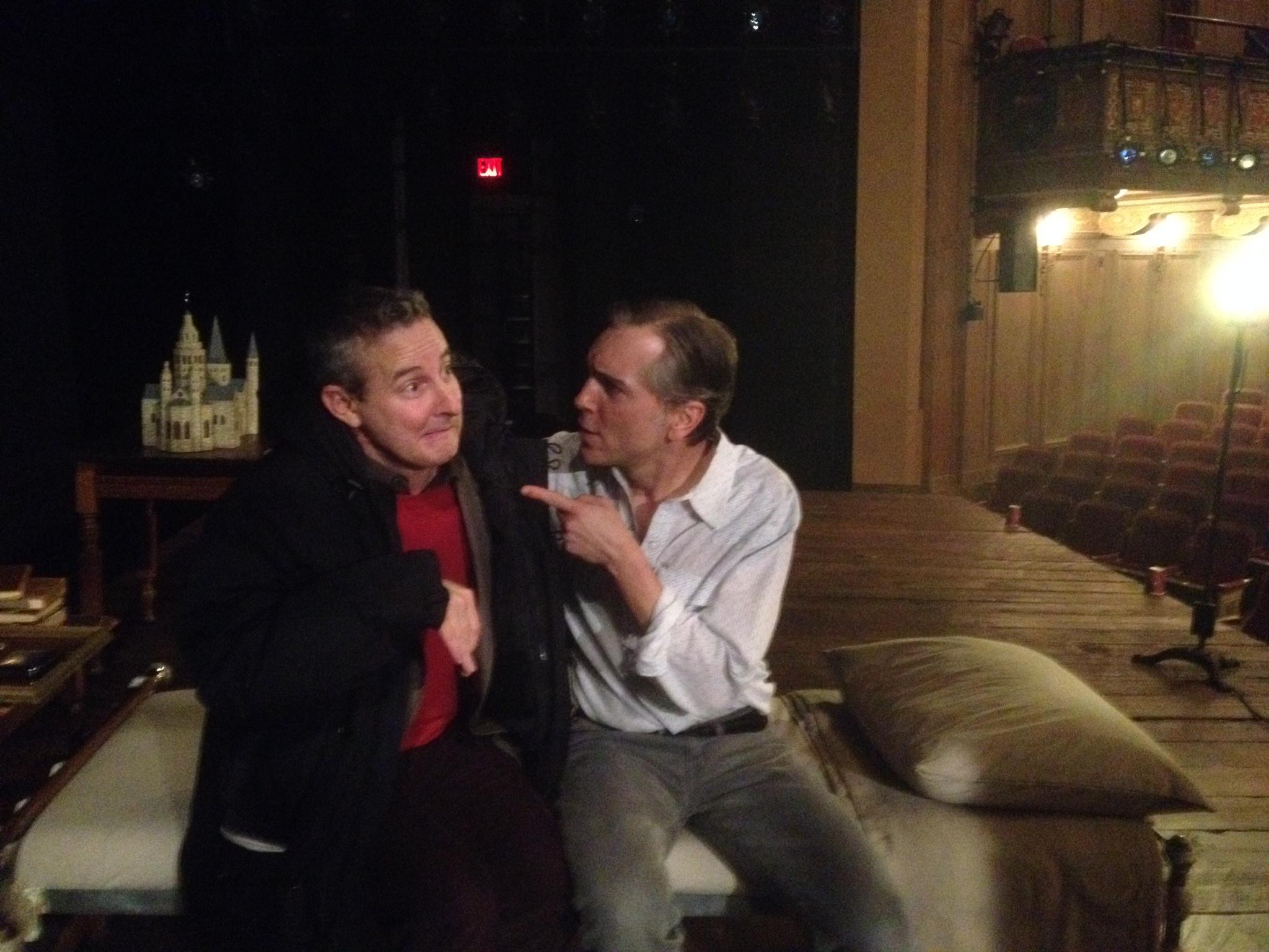 """Scott gives Eddie Jemison some pointers on his """"Merrick"""" interpretation"""