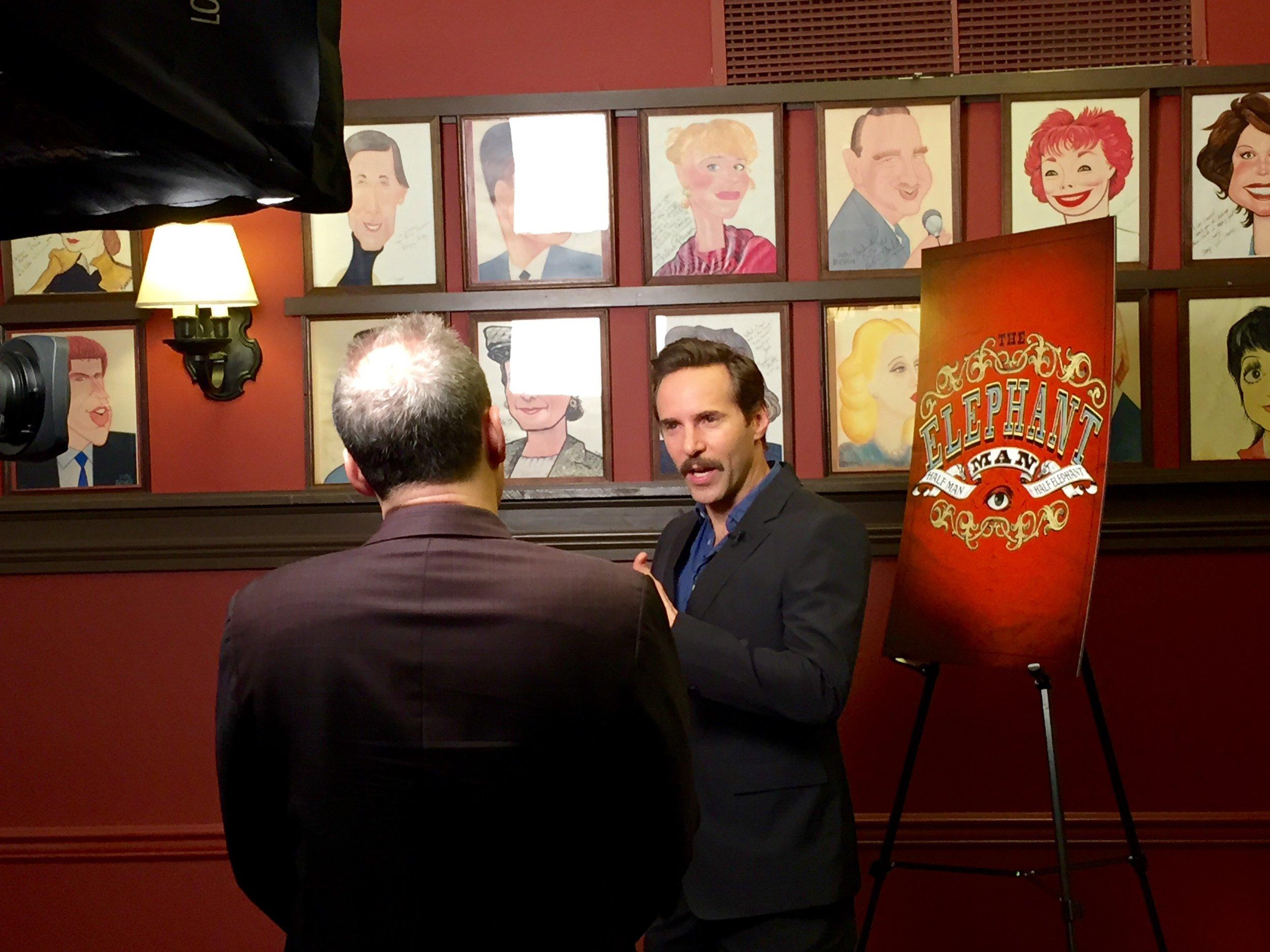 Alessandro Nivola at Sardi's Press Event (photo by Scott)