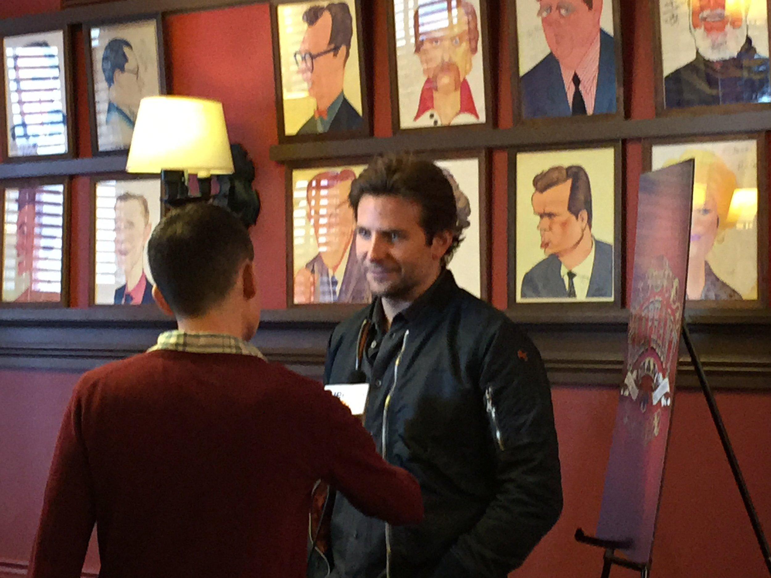 Bradley Cooper at Sardi's Press Event (Photo by Scott)
