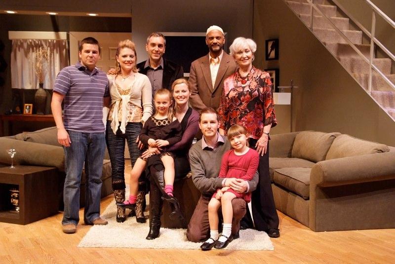 The cast with Director Dámaso Rodriguez