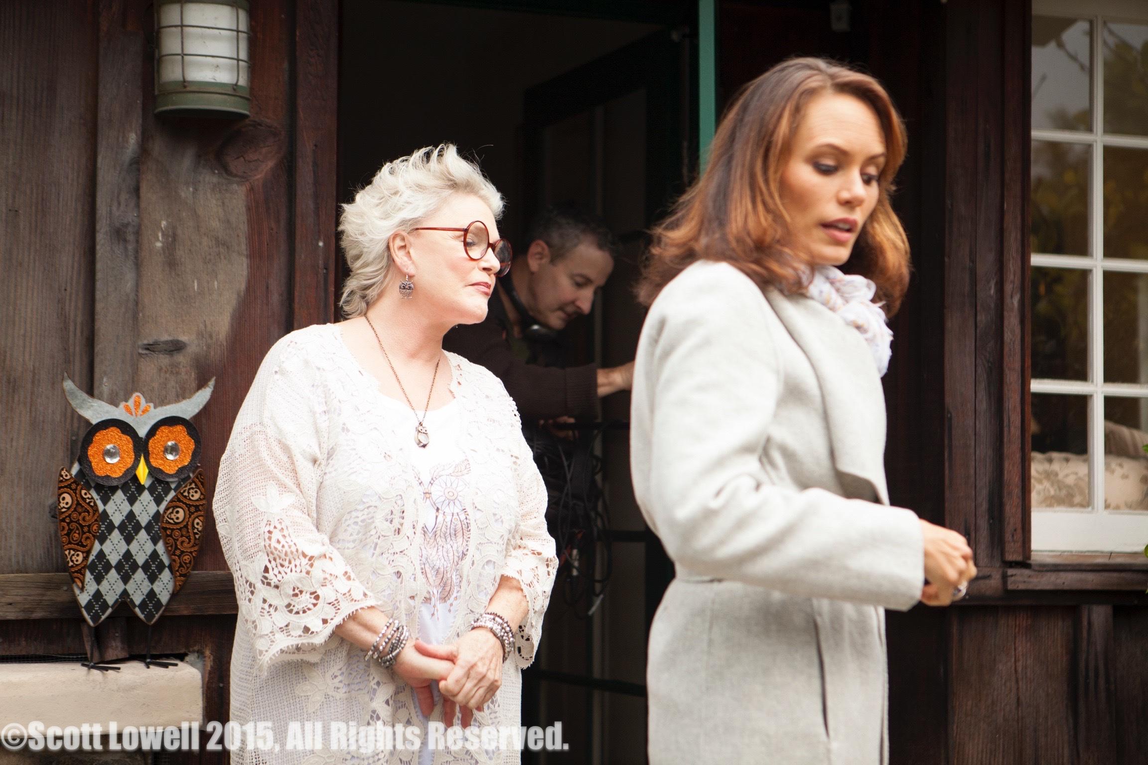 "11/09/15 ""Mary Elizabeths'"" House. L to R: Sharon Gless (""Mary Elizabeths""), Emily Swallow (""Lisa"")"