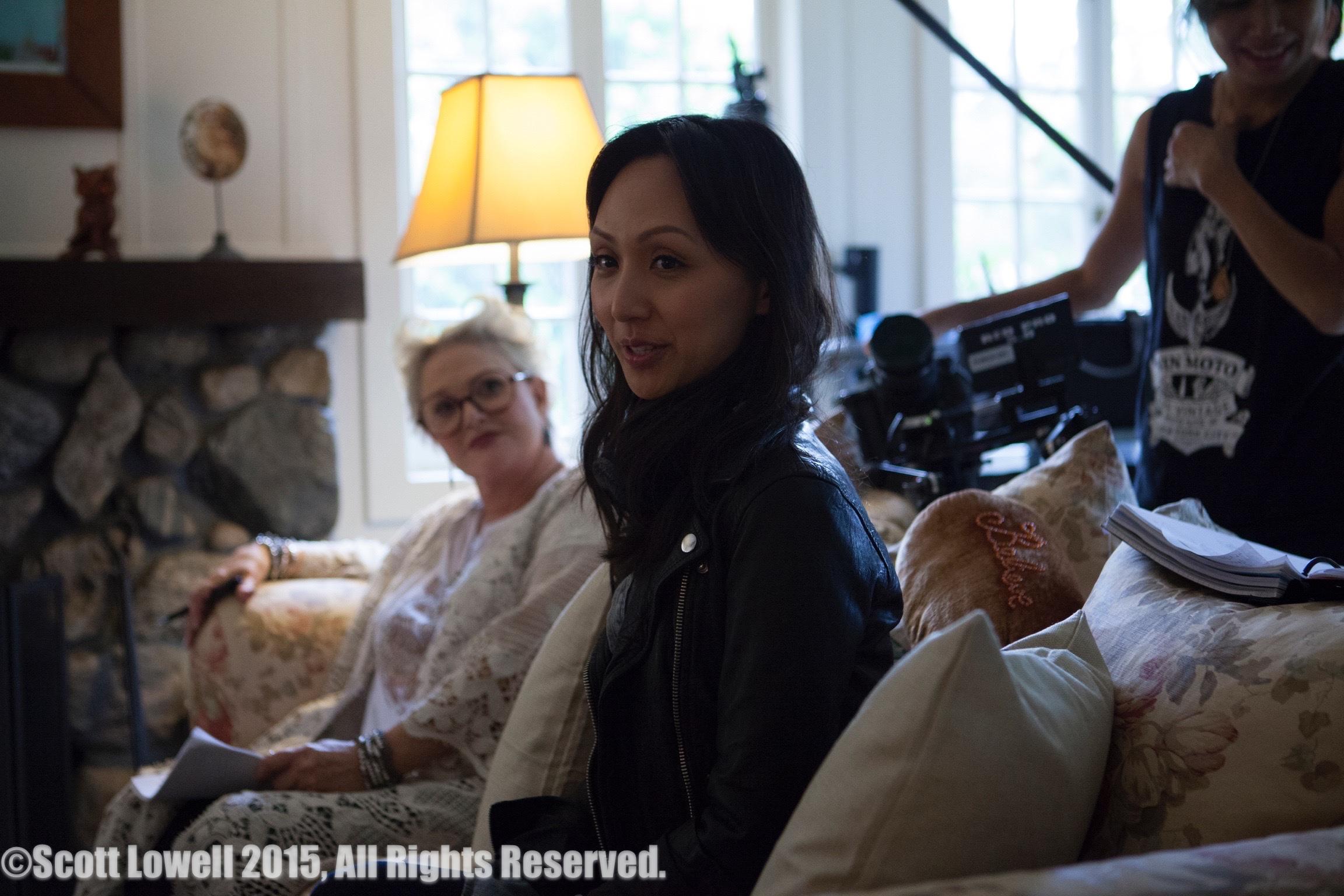 "11/09/15 ""Mary Elizabeths'"" House. L to R: Sharon Gless (""Mary Elizabeths""), Linda Park (""Jennifer"")"