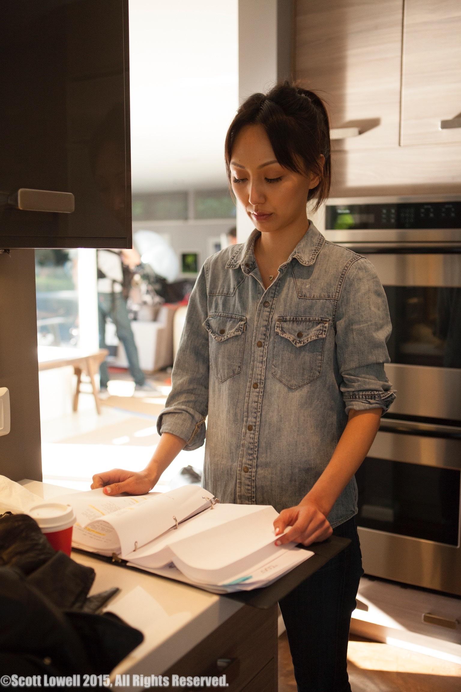 "11/13/15 Filming at ""Scott & Lisa's"" Home. Interview scenes. Linda Park (""Jennifer"")"