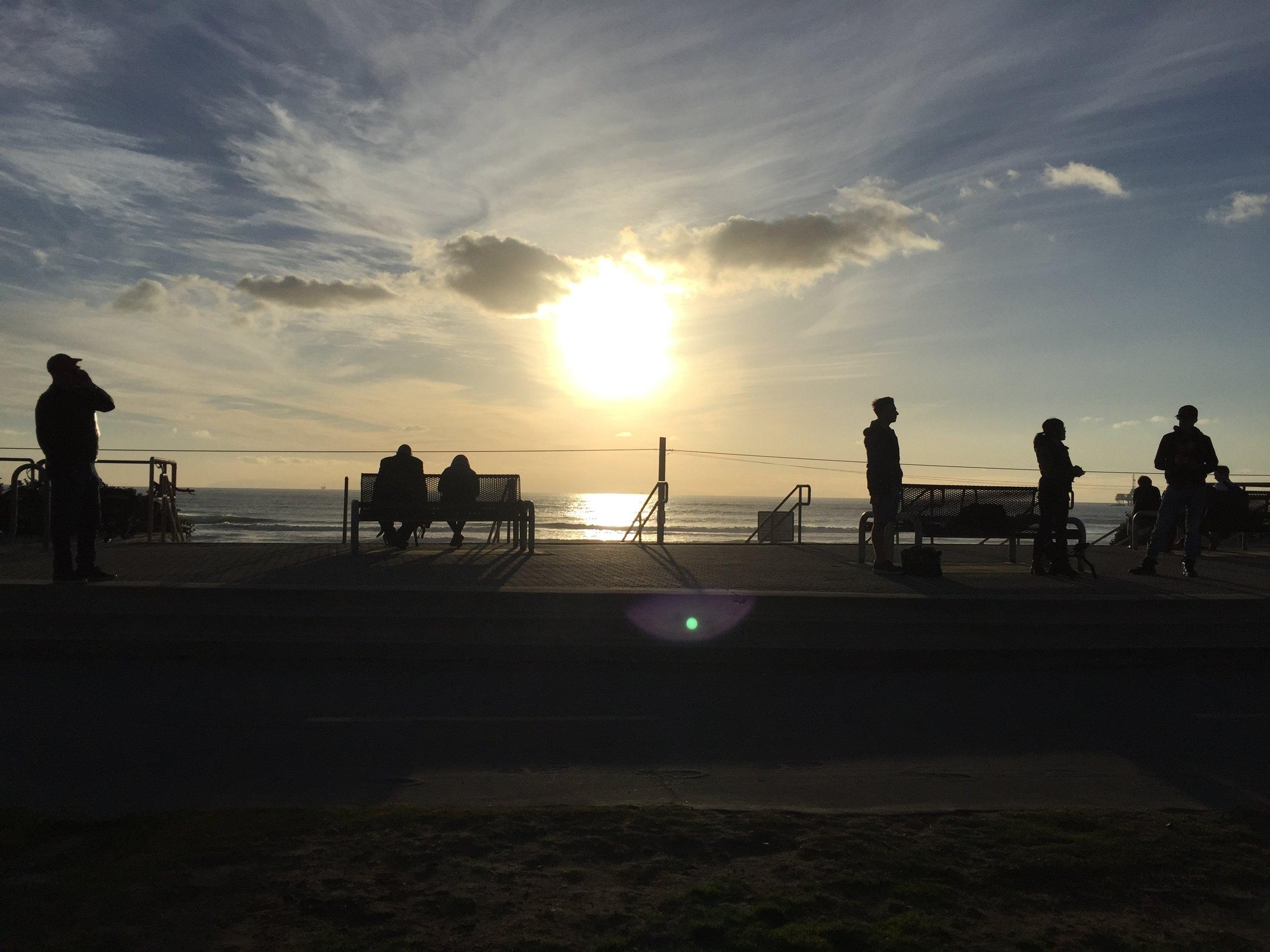 12/13/15 Sunset Beach Scene Scene. Huntington Beach, CA