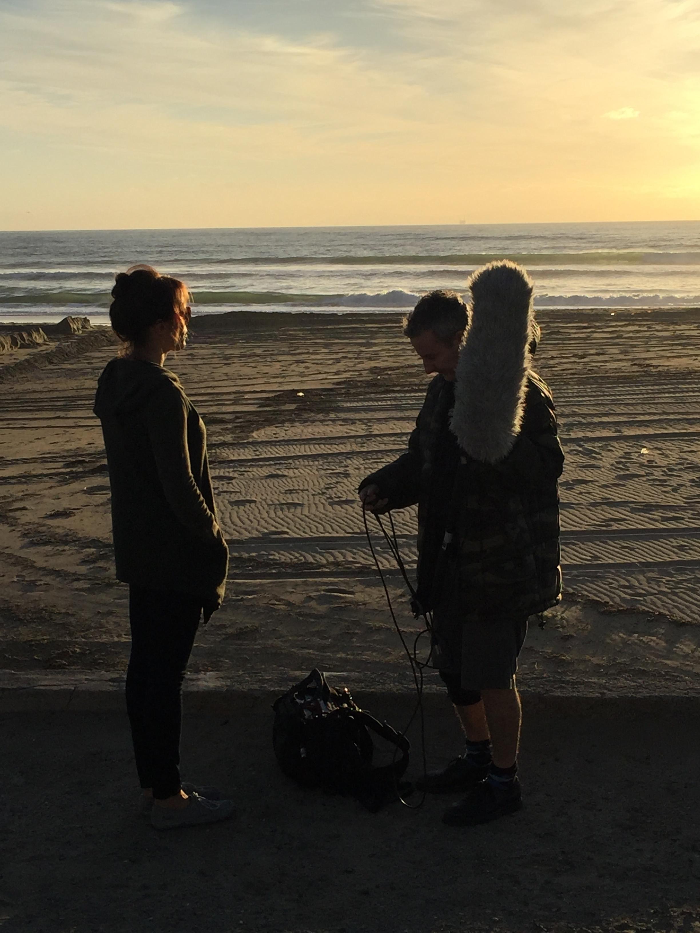 "12/13/15 Sunset Beach Scene Scene. L to R: Emily Swallow (""Lisa""), Eddie Jemison (""Chaim"")"