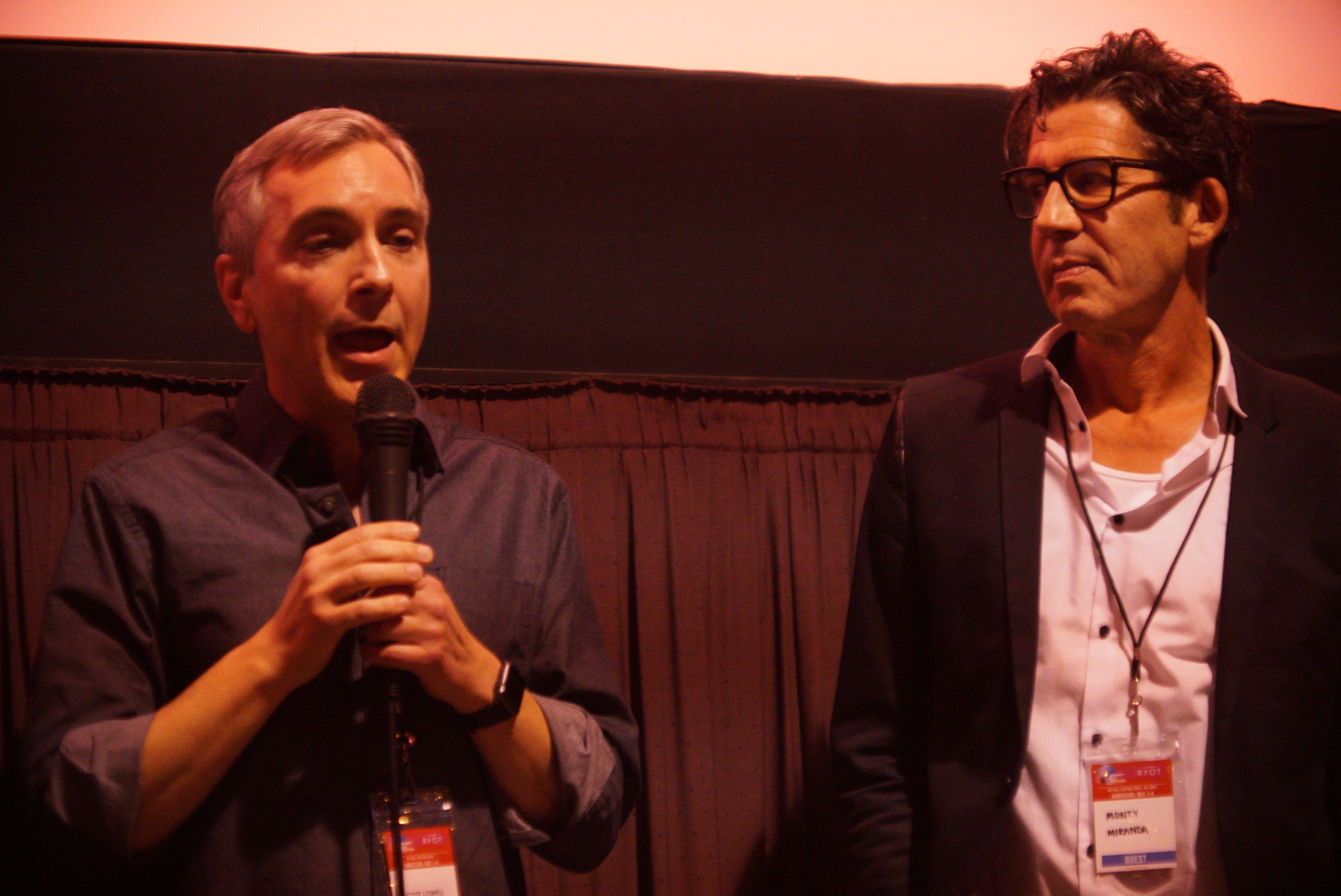 ADOPTABLE! screening at IFF 11/4/18 Q&A (l - r) Scott, Monty Miranda (dir.)