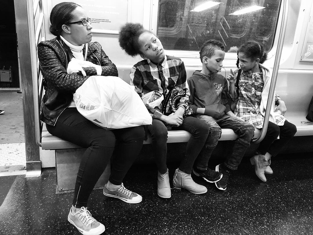 Fell in love with this family as we all waited and waited for the Q train to get us home in the wee hours last night. Couldn't pick a favorite out of all these. #1 (Oct. 7, 2018)