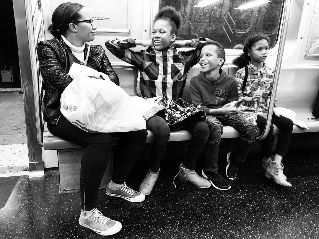 Fell in love with this family as we all waited and waited for the Q train to get us home in the wee hours last night. Couldn't pick a favorite out of all these. #5 (Oct. 7, 2018)