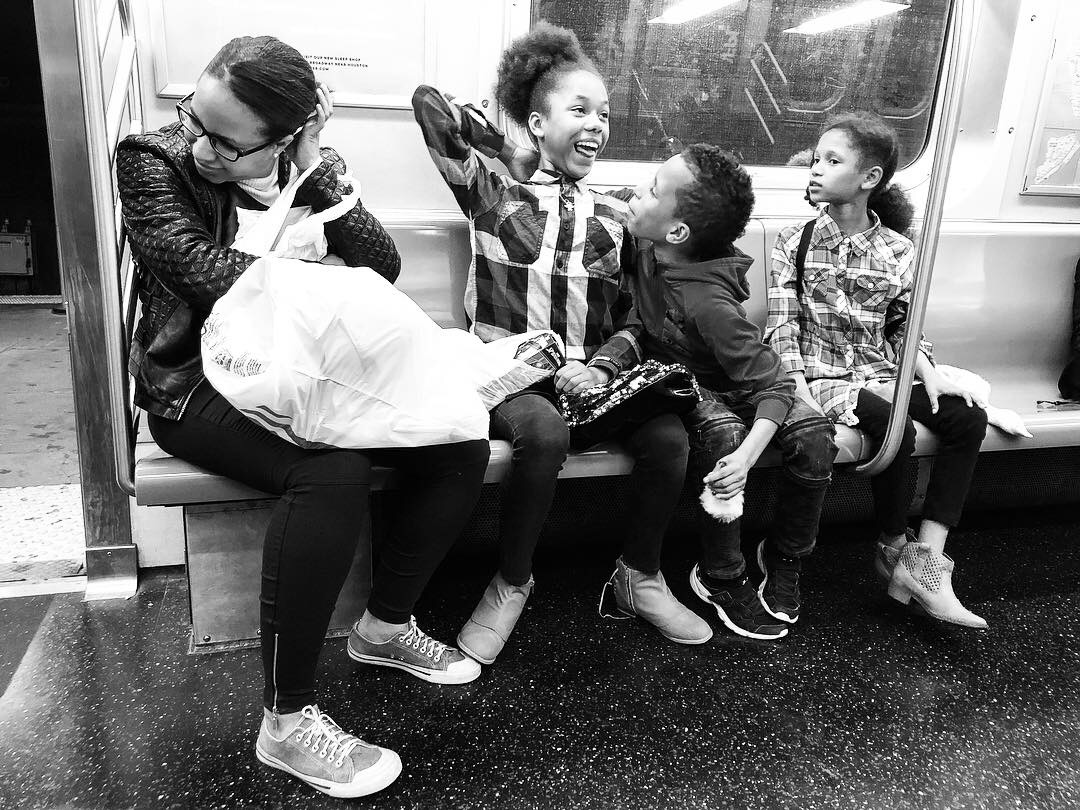 Fell in love with this family as we all waited and waited for the Q train to get us home in the wee hours last night. Couldn't pick a favorite out of all these. #6 (Oct. 7, 2018)