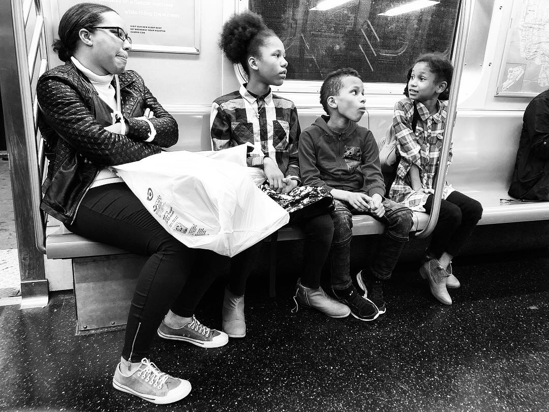 Fell in love with this family as we all waited and waited for the Q train to get us home in the wee hours last night. Couldn't pick a favorite out of all these. #7 (Oct. 7, 2018)
