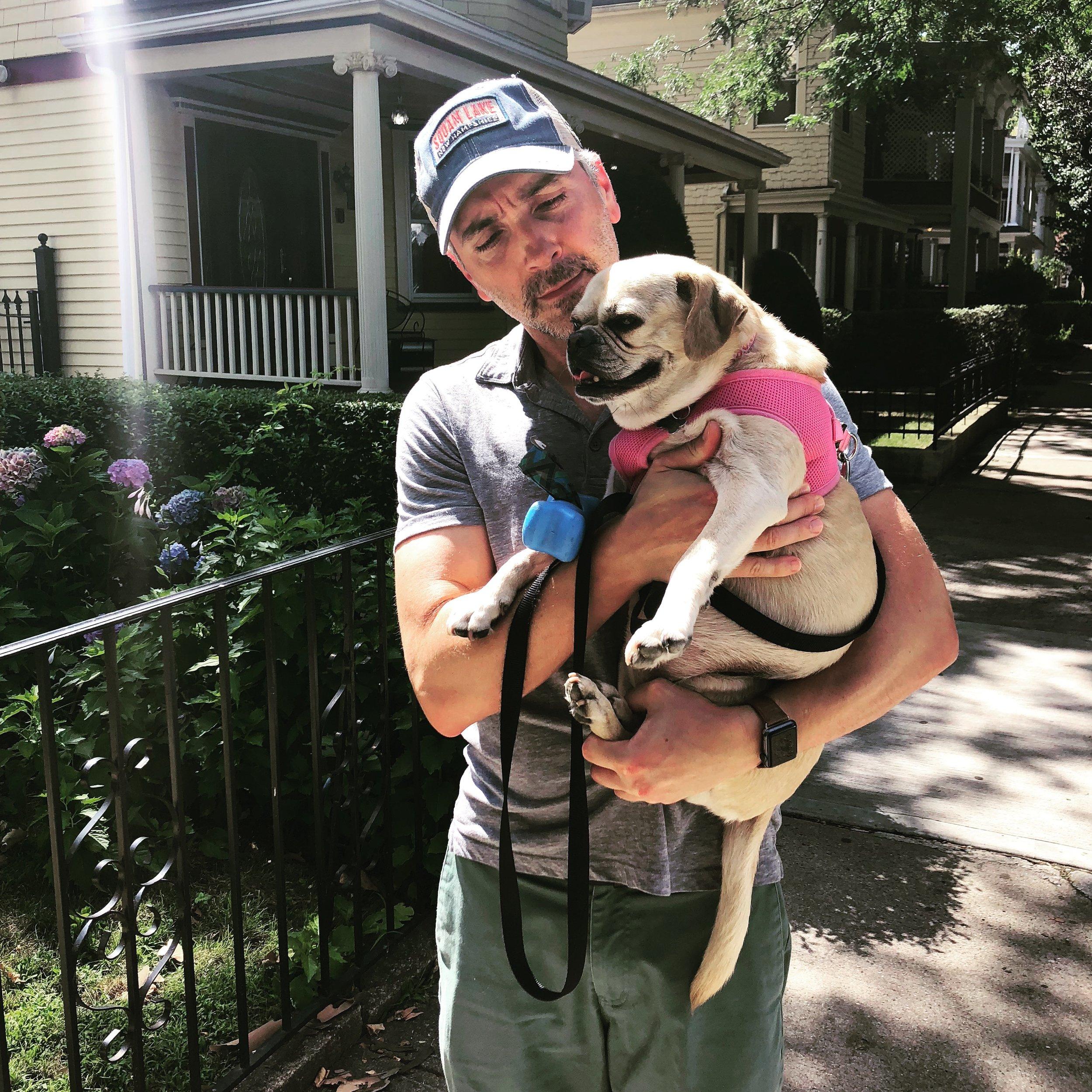 Sometimes that Neighborhood Walk is just a liiiiiittle too long for a Puggle (Brooklyn 7/2008)
