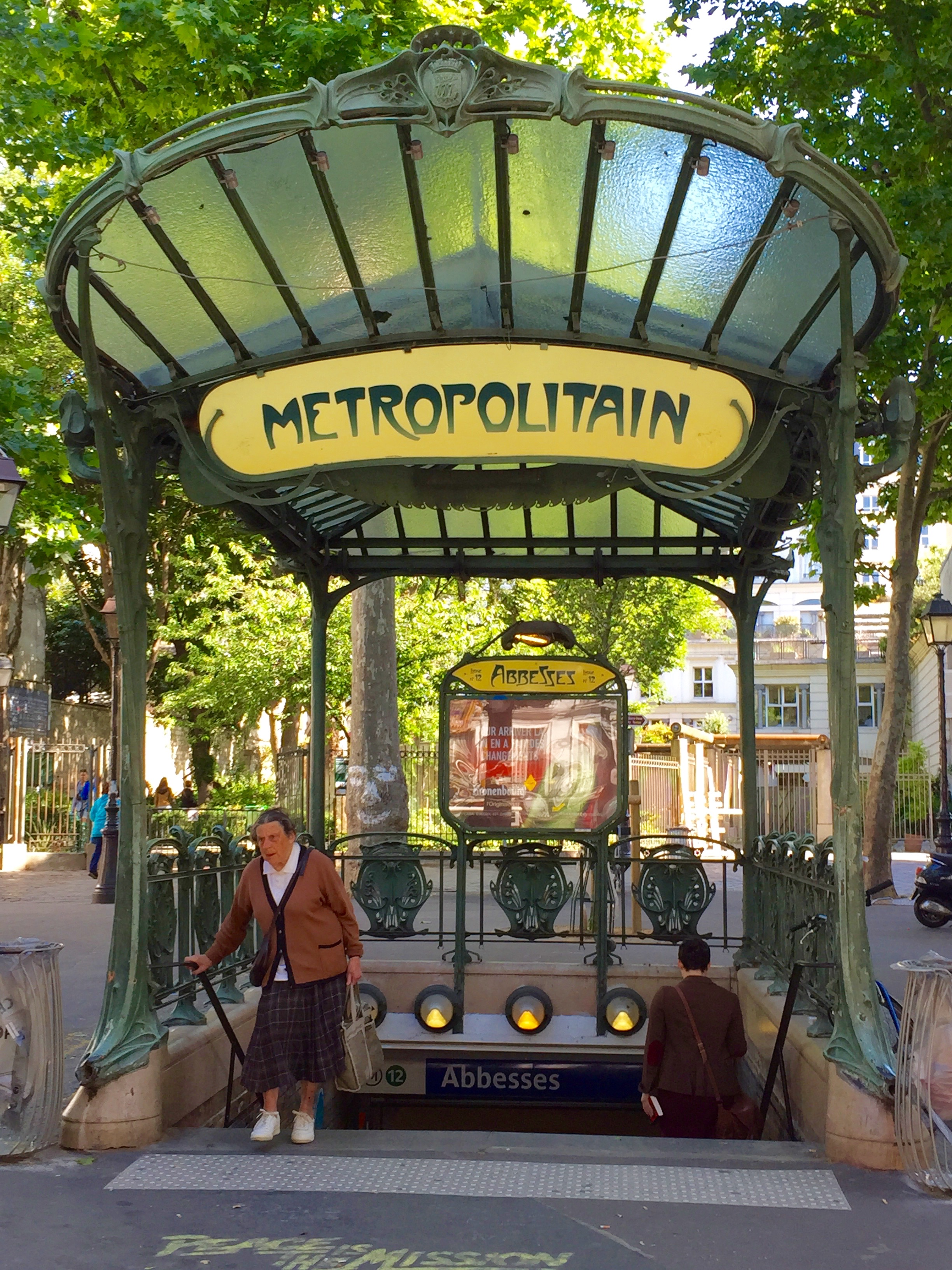 Mont Martre Metro, Paris, France, June 2015