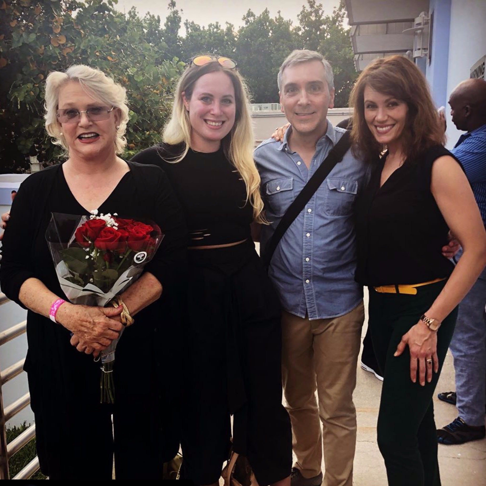 Sharon Gless, Jordan Gelber (of Starbaby Productions), Scott & Emily Swallow at Miami Webfest 5/4/19