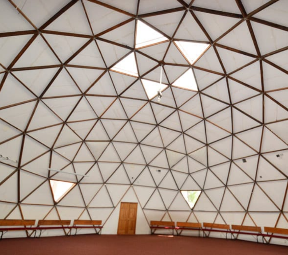 Synergia Ranch geodesic meeting dome