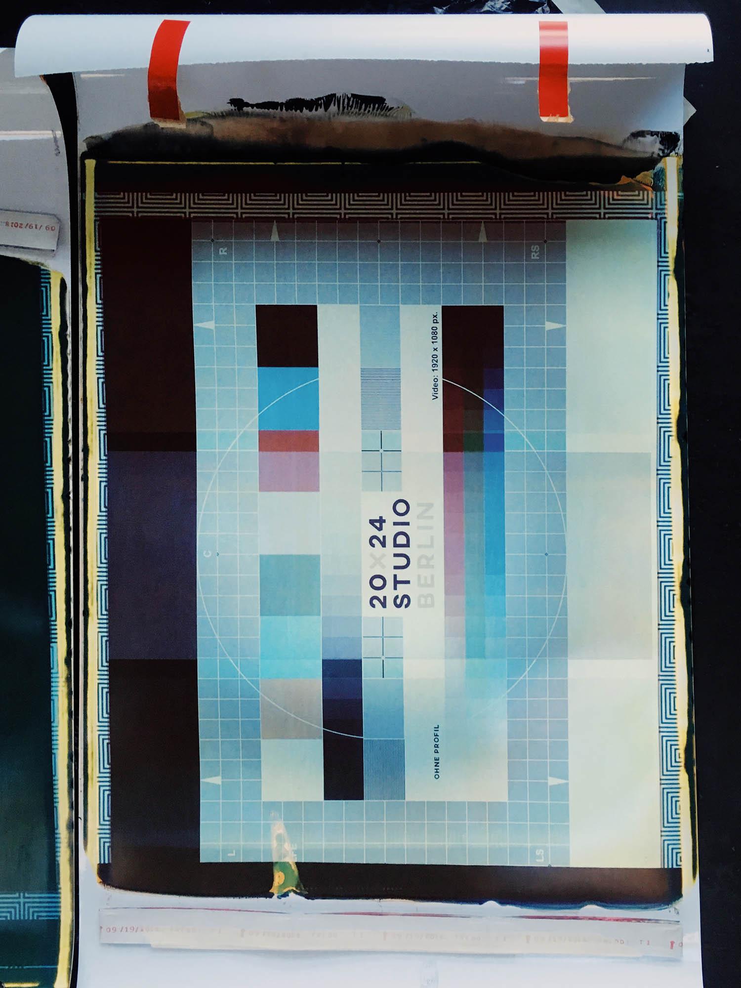 Eines der ersten Testbilder zur Kalibrierung des INSTANT D2A