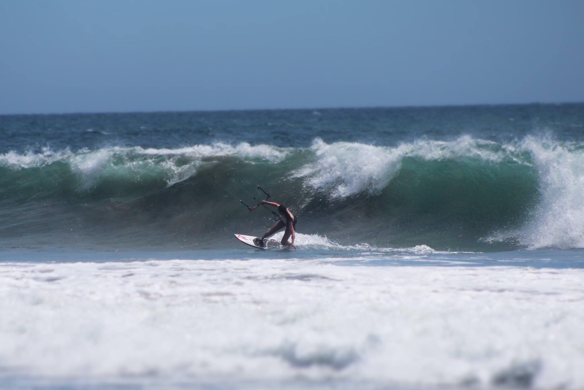 Kite Boarding, yup, she does that too!! Photographer: Trevor Burke