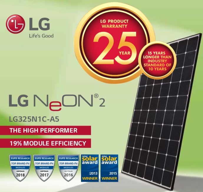 325-335W Mono-Crystalline LG Solar Panel