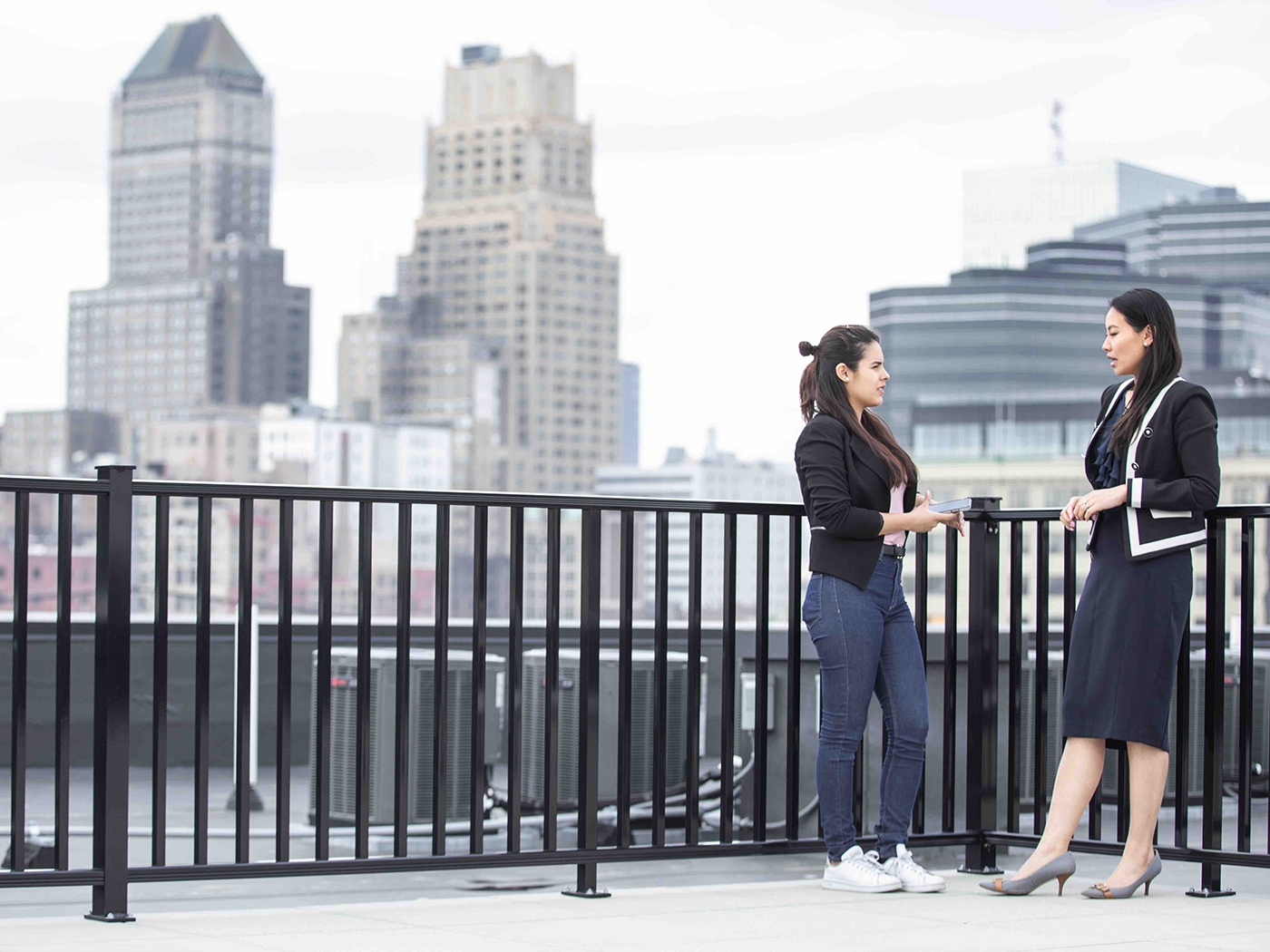 Rooftop - Rooftop access with a view of Newark or a perfect place to end the day.