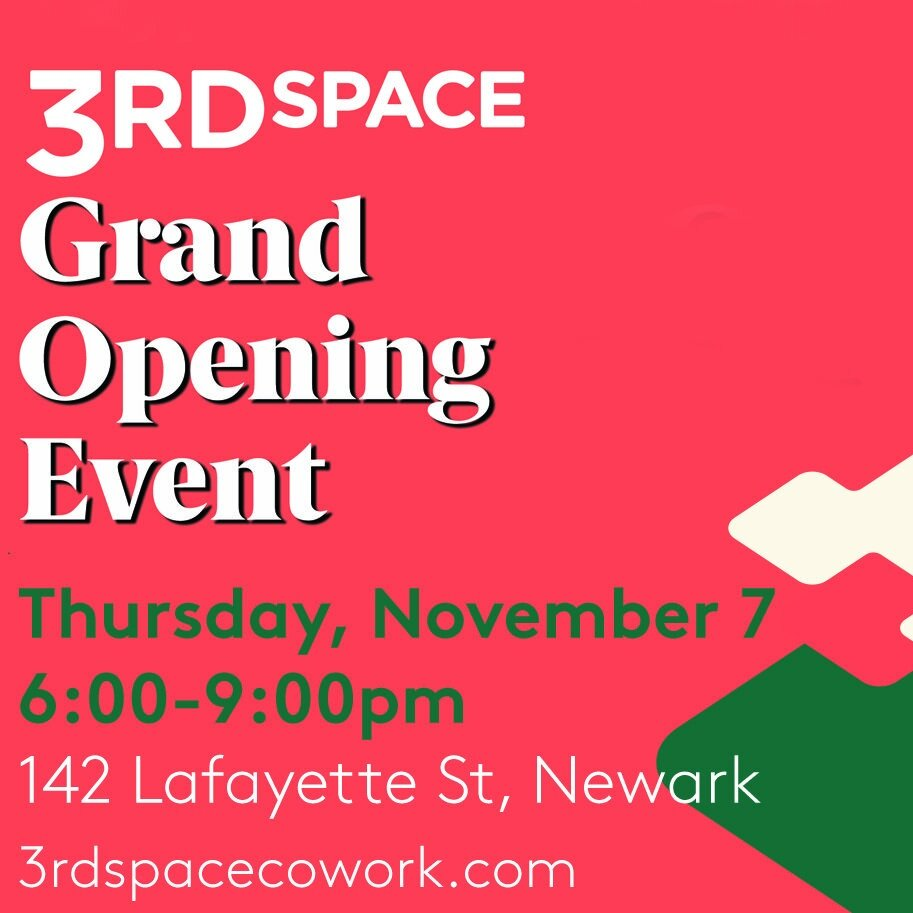 Celebrate with us. - We are celebrating our new coworking space in the heart of Newark and the warm welcome we have received from the Newark community.Enjoy cocktails, food by celebrity Chef Ameer Natson, ribbon cutting, tours of the space, entertainment and revelry.Event registration is by invitation only. Plus ones available. We want to expand our network so please fill out the form below!