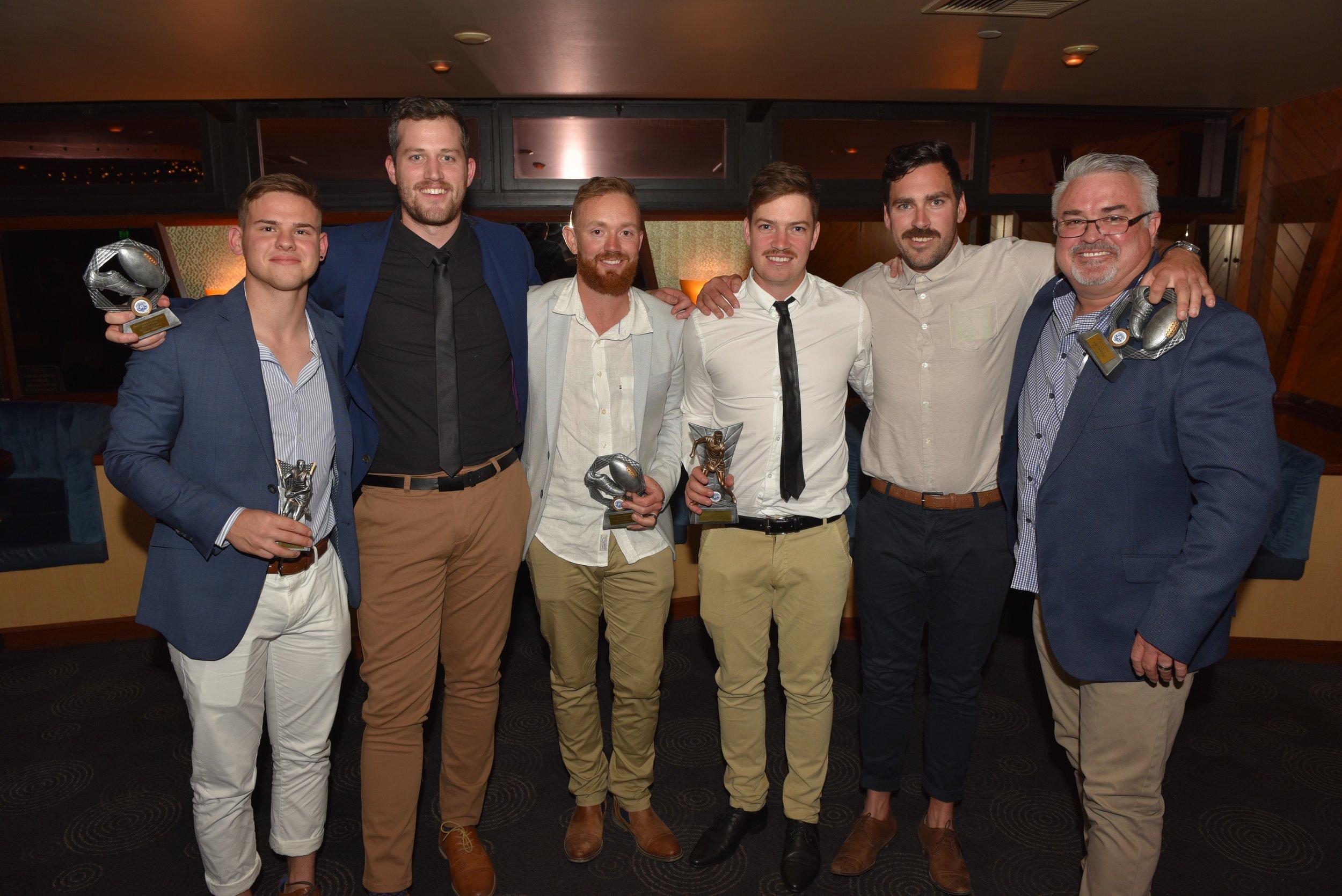 B Grade awards, Stewart Leigh, Simon Williams, Caine Jinnette, James Hughes, Bradd Lamont, Mike Field.jpg