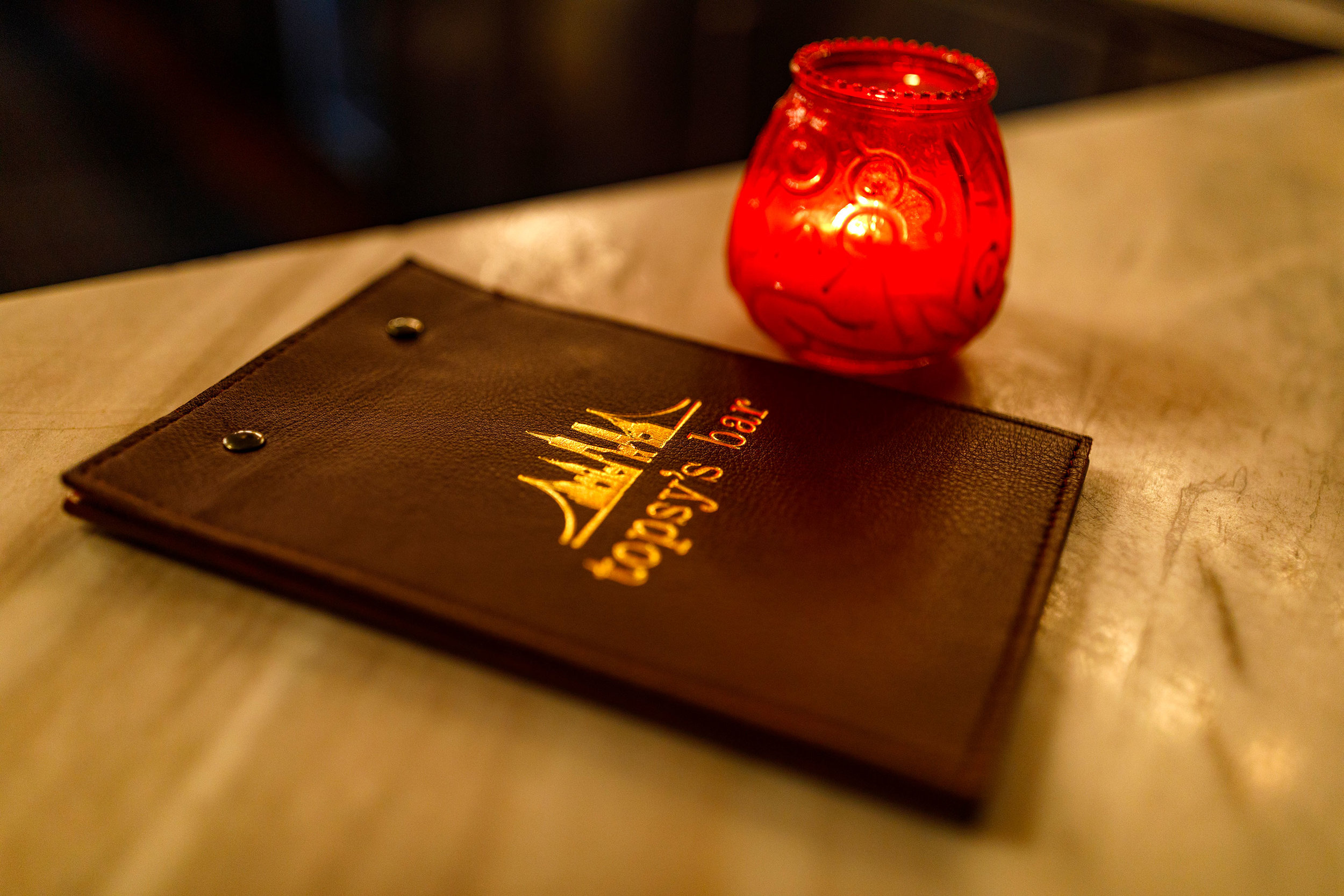 Topsy's Bar Menu
