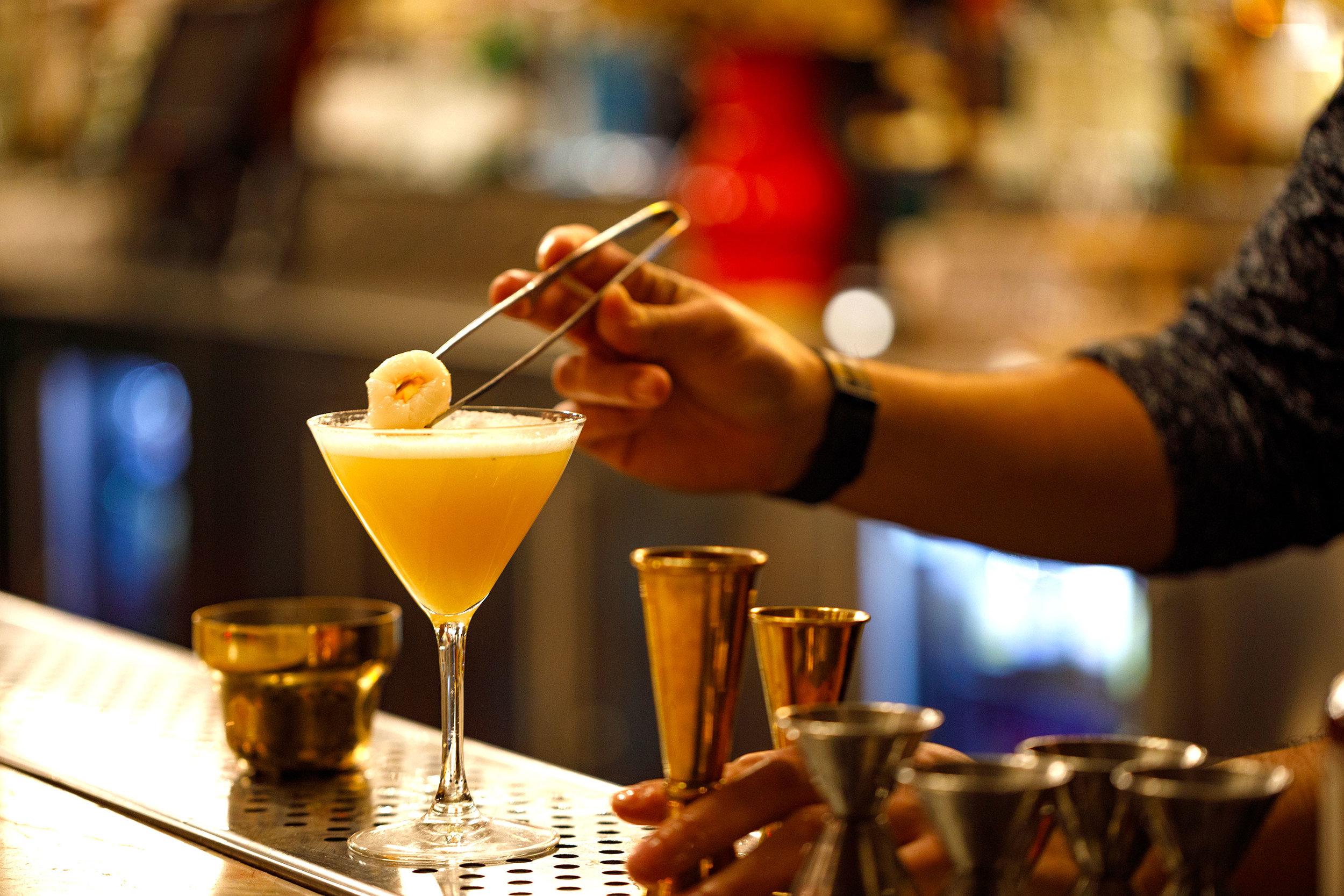 Making 'Lychee Martini'