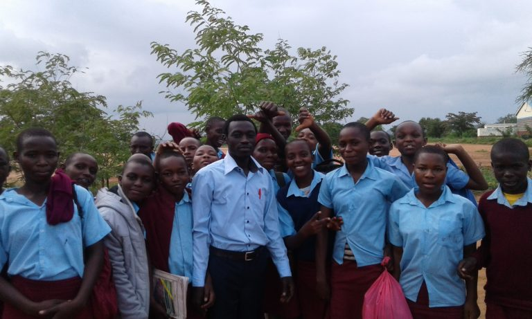 BBG Representative Mr. Elijah with students from St Mary's