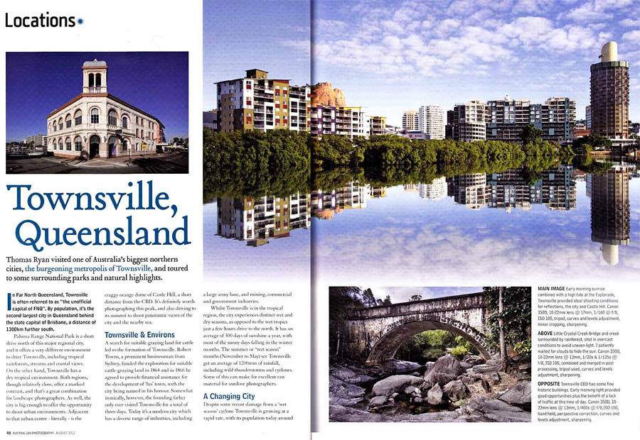 Australian Photography Magazine, Photographs and story about exploring the Townsville region, Queensland
