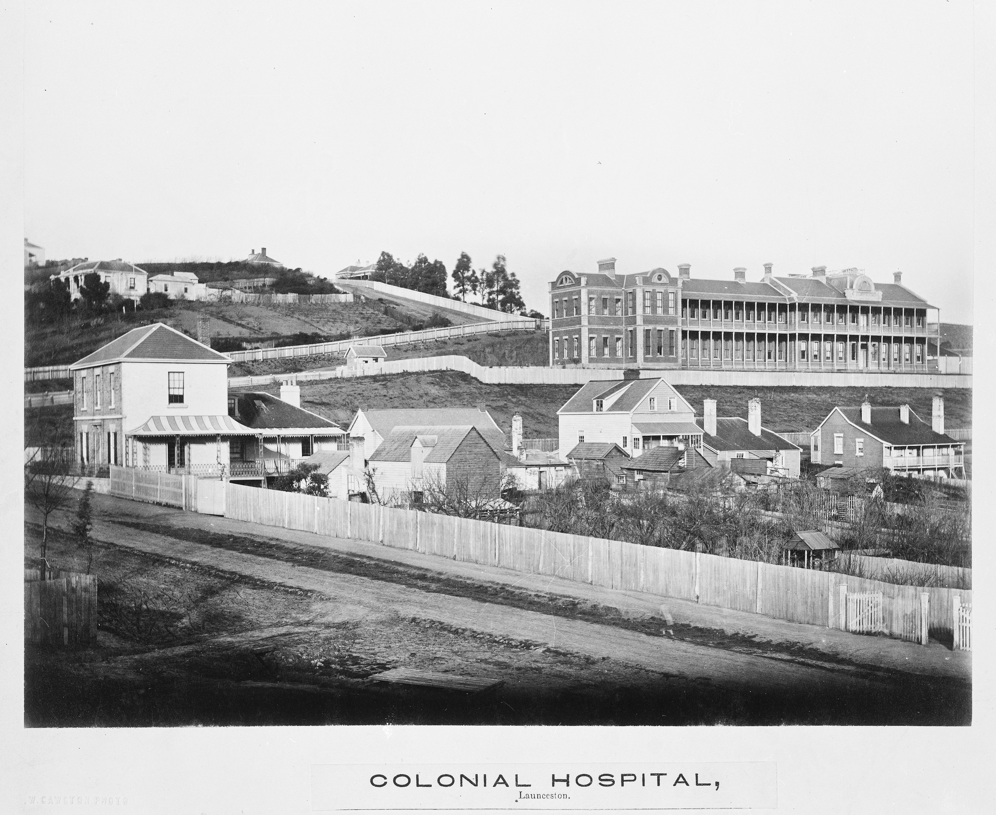 My photography is informed by researching archives so I have a deeper understanding of how a building site changed over time. Here we can see the old hospital that was demolished for the 1930s hospital. Tasmanian Archive and Heritage Office: PH30-1-2 Photographer, William Cawston.
