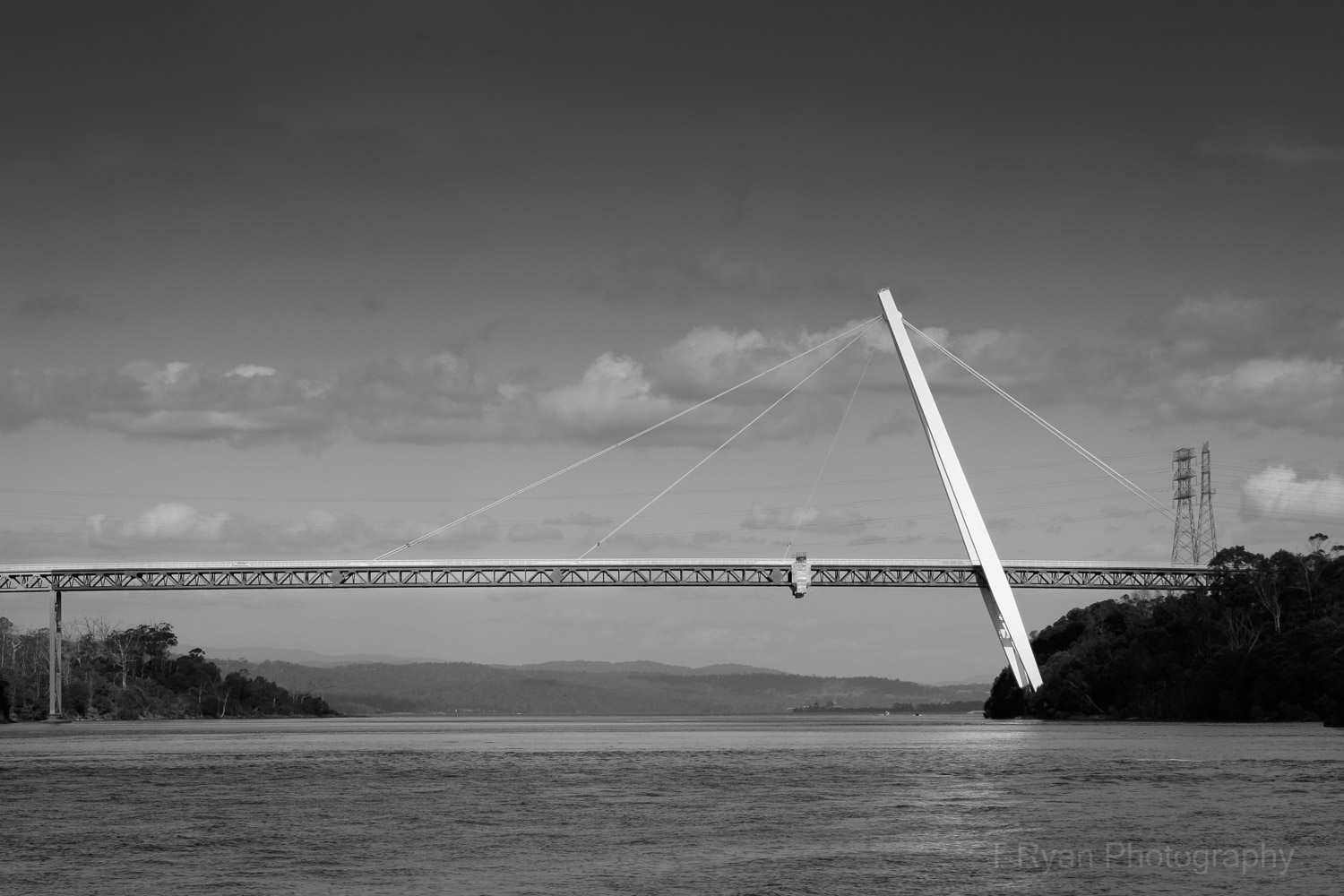 The Batman Bridge spanning the River Tamar designed in the 1960s was one of the many examples of Modernist design being built in the mid 20th Century boom years.