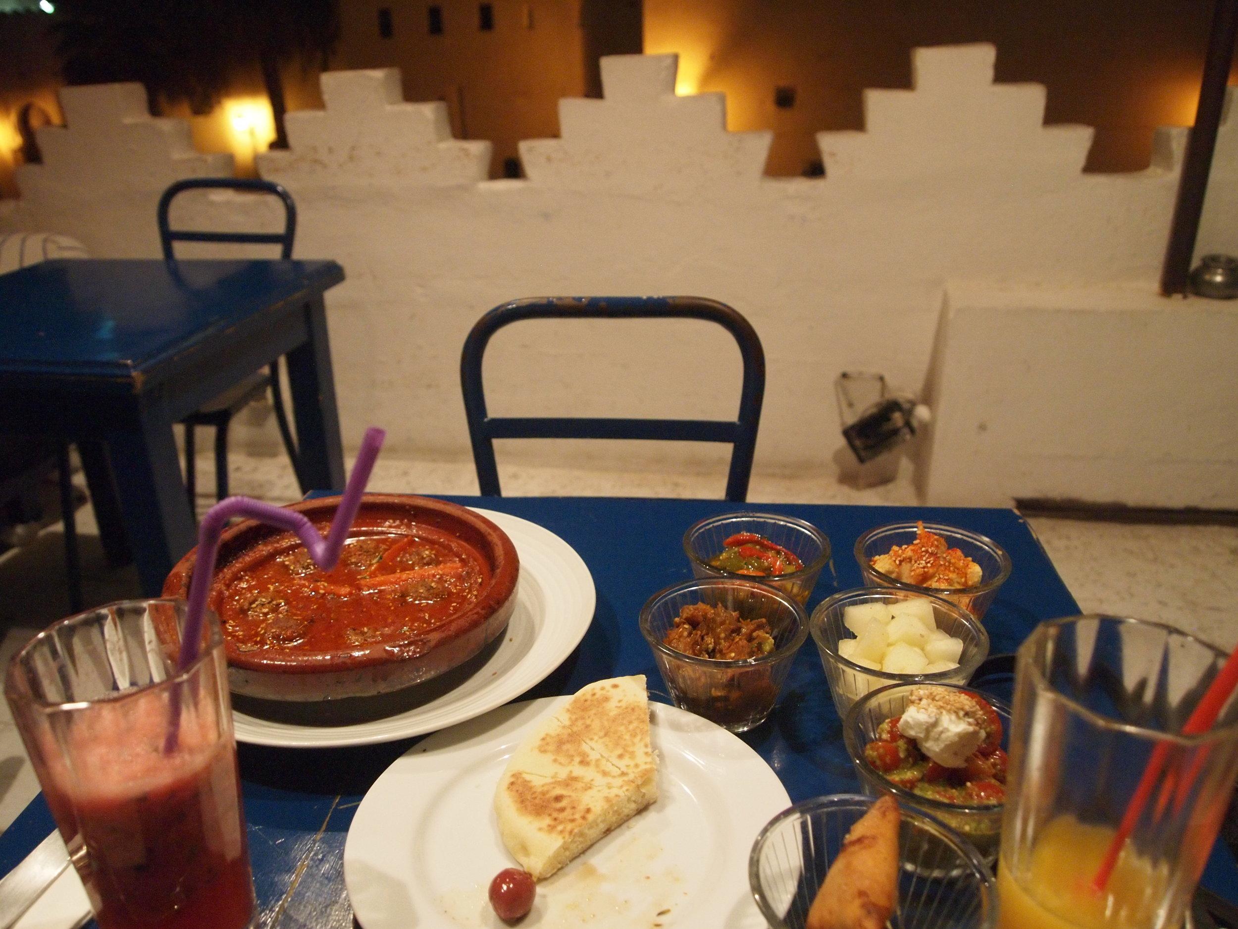 City: Tangier  Salon Bleu Restaurant