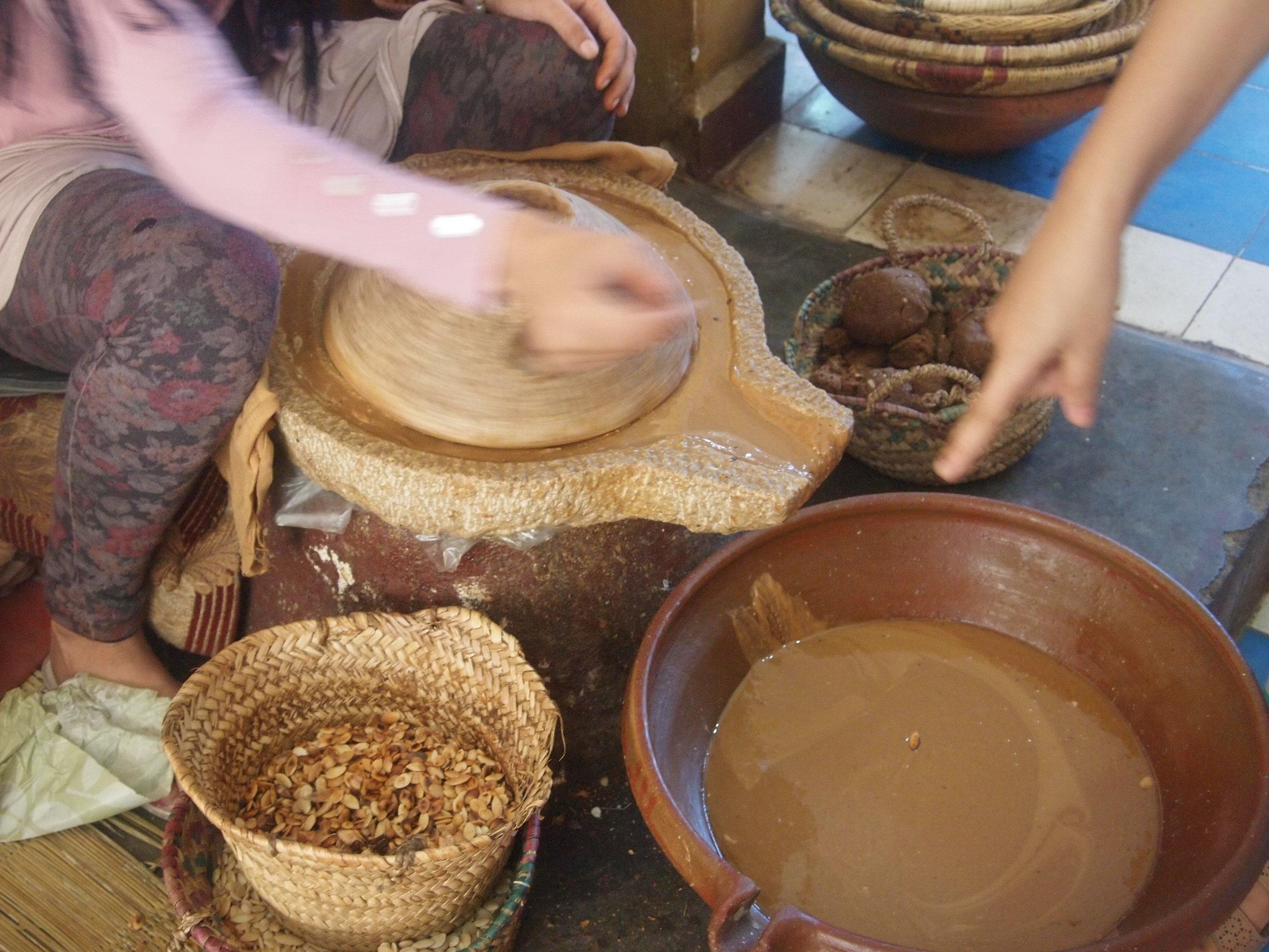 City: Zagora Desert  The Journey -Lesson in making Argan oil aka Moroccan oil