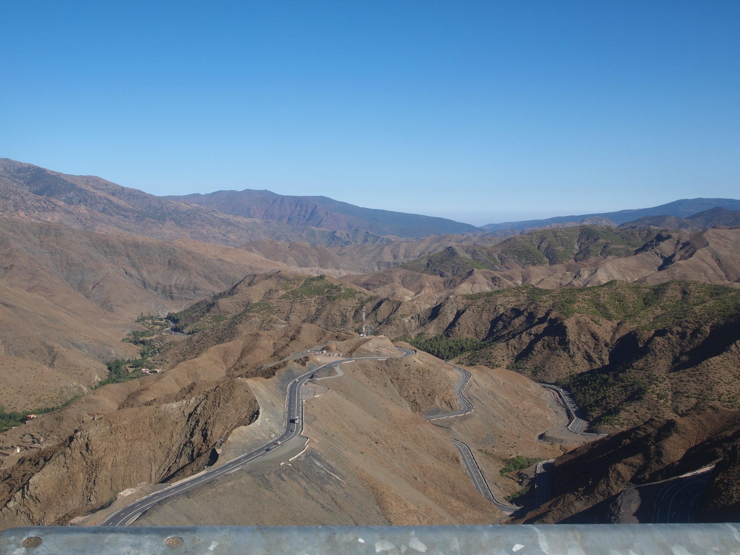 City: Zagora Desert  Atlas Mountains, crossing the Tizin Tichka pass at 2260m altitude