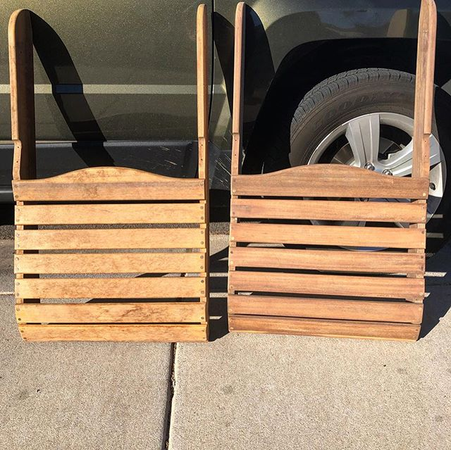 Made some progress on the Adirondack chairs I am refinishing this weekend. They were pretty worn from the elements but they are looking much better. Gotta get a couple coats of finish on them and they will be ready to go. #inprogress #mfptribe #woodworking #woodworker #woodwork #DIY #doityourself #handmade #wood  #woodshop  #maker #madetomake #builder #build #makersgonnamake #makersmovement #woodisgood #furnituremaker #woodfurniture #woodshop #woodworkshop #customfurniture #woodworkcraft #chandleraz #localaz #livingchandler #desertazmakers