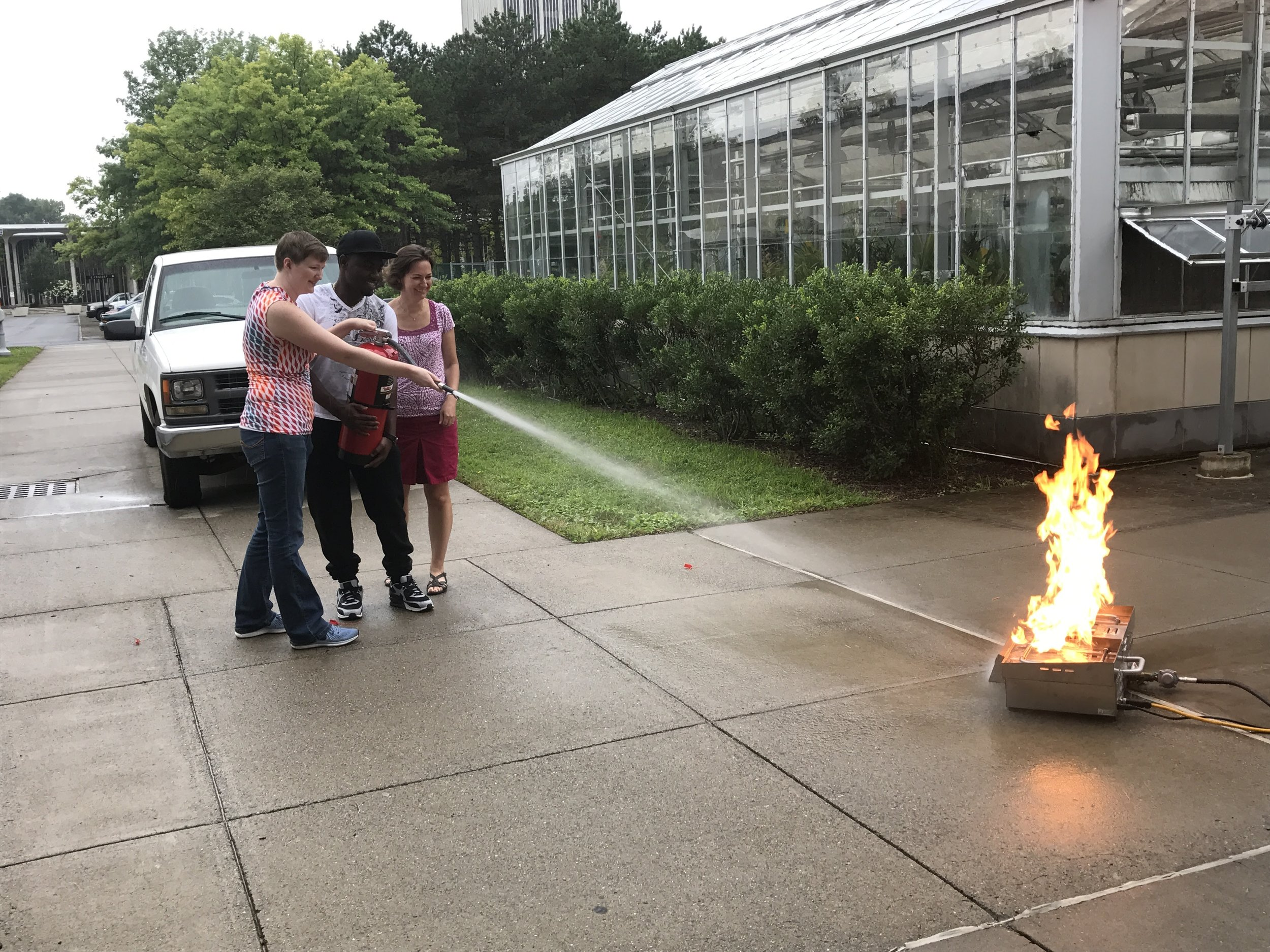 Fire safety training, August 2017.