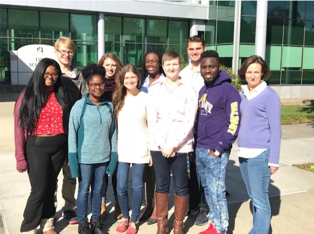 Pager lab, April 2018:  Front row: Deniece, Marissa, Nina, Rachel, Shina & Cara  Back row: Kyle, Rachel (2.0), Sabrina & Gaston