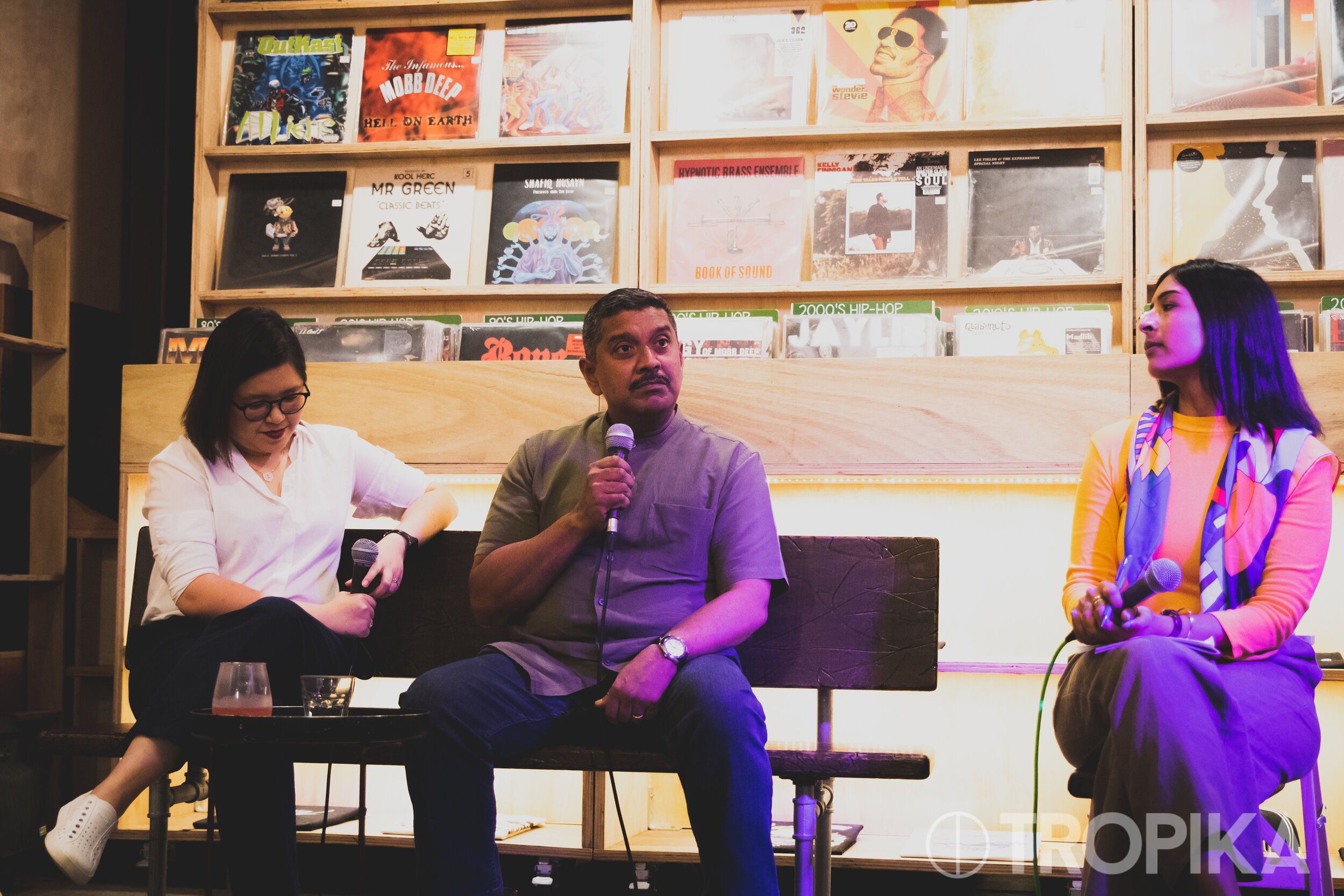 August 2019: Singaporean human rights advocate Kirsten Han and Viswa Sadasivan, a former member of Singapore parliament, discussing political protests in Asia