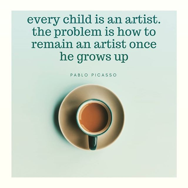 How are you keeping your inner artist child alive?  #picasso #dailypractice #creativityquotes