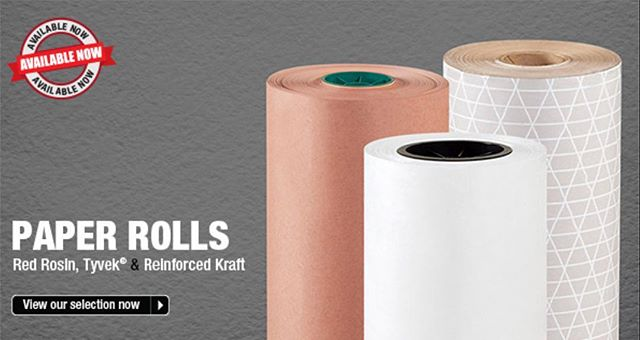 #red rosin #tyvek and #kraft reinforced #paper #rolls from #bigvalleypackaging @bigvalleypkg shop http://www.packingshippingsupplies.com